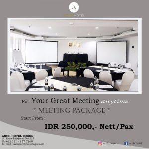 Promo Meeting Arch Hotel Bogor